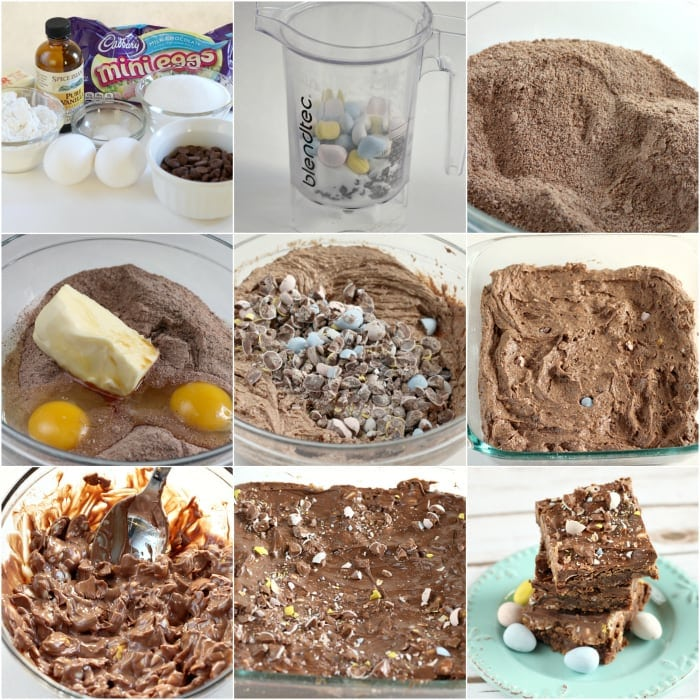 Cadbury Mini Eggs Brownie Bars - Butter With a Side of Bread