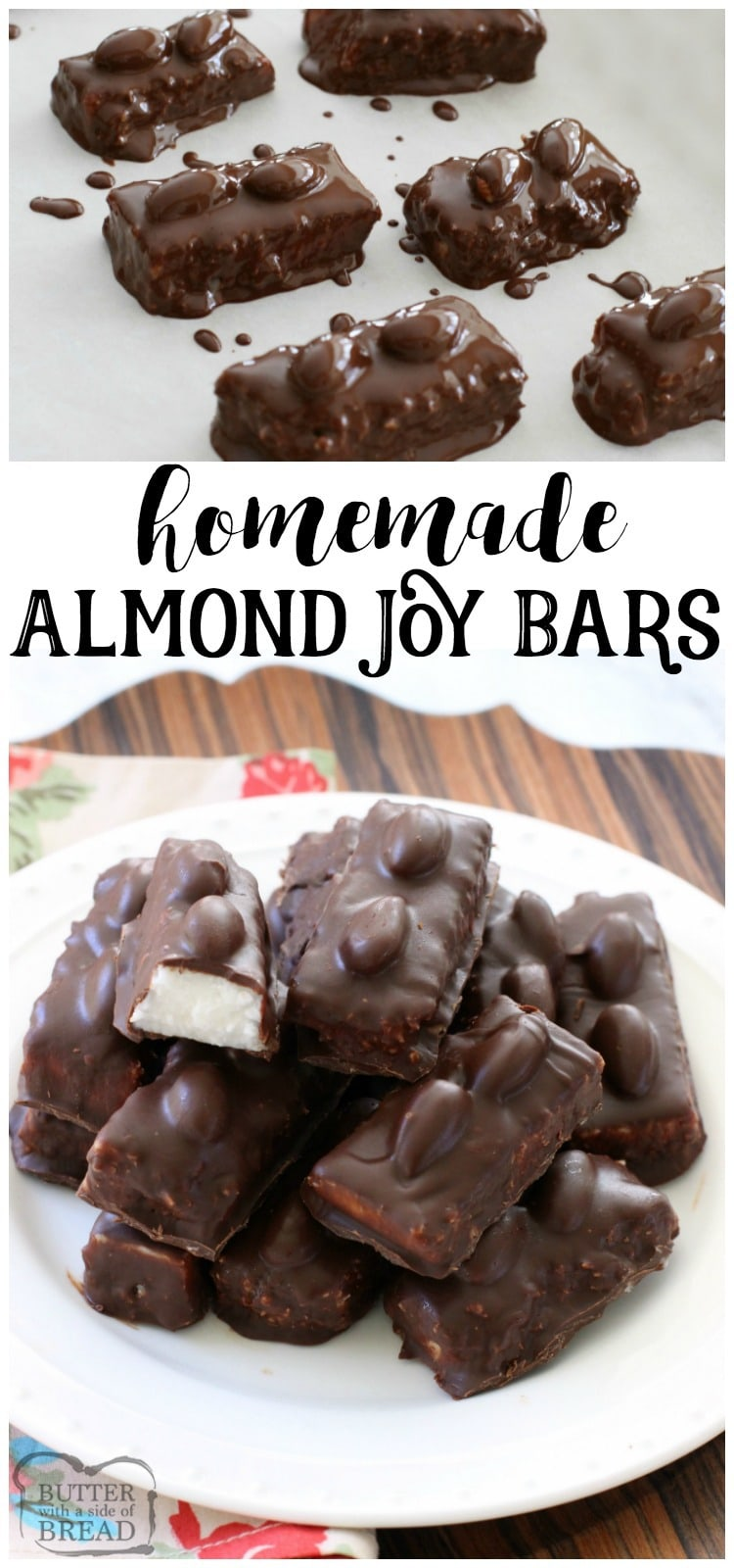 Homemade Almond Joy Bars - Butter With A Side of Bread