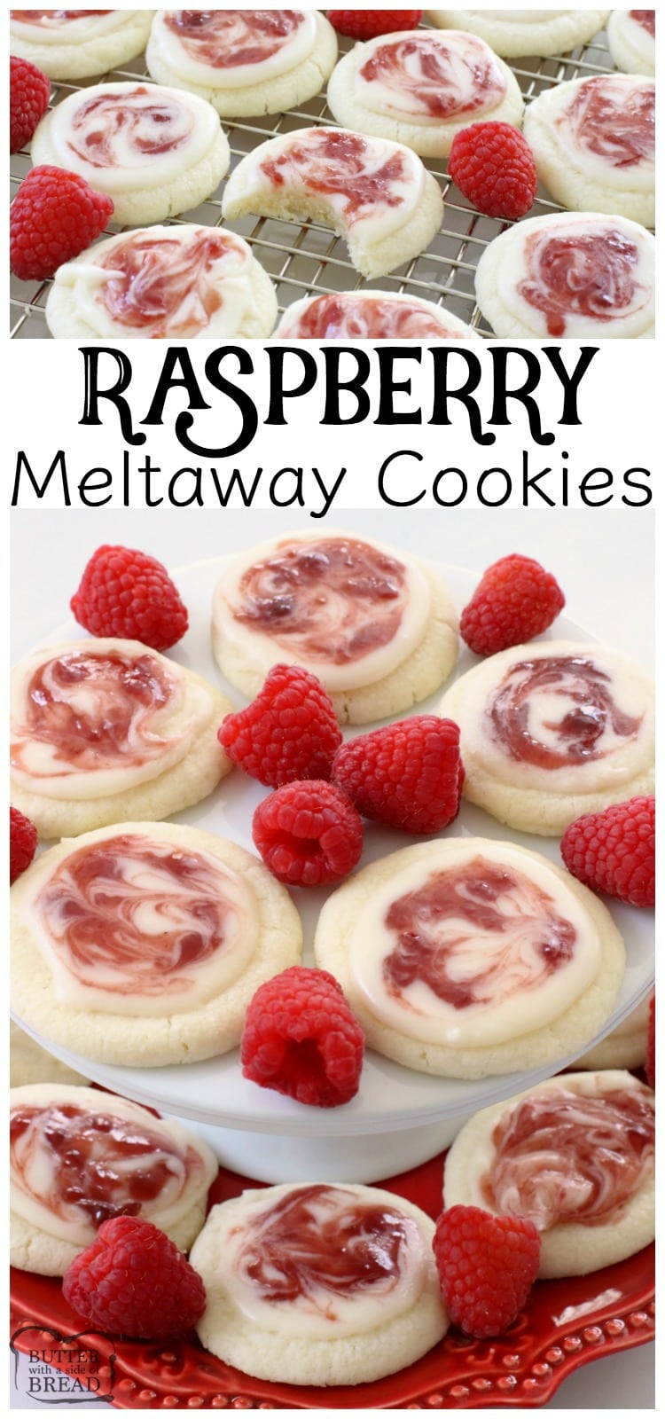 Raspberry Meltaway Cookies ~ Butter With A Side of Bread
