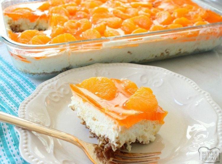 Mandarin Orange Jello Cake Recipe: TROPICAL JELLO PRETZEL SALAD