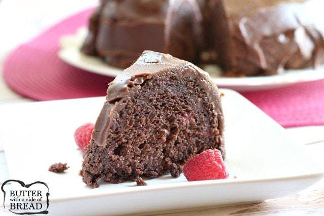 Chocolate Raspberry Cake - Butter With a Side of Bread