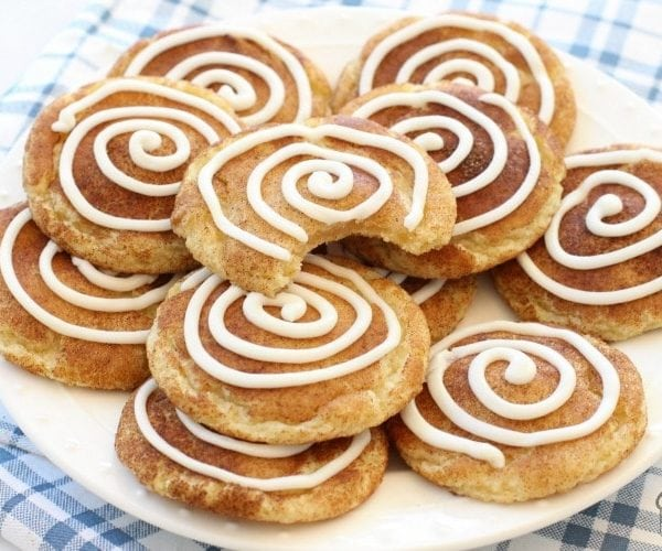 Cinnamon Roll Snickerdoodle Cookies