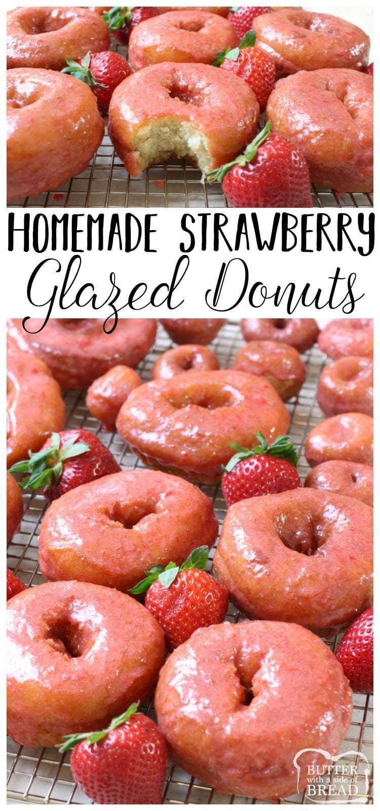 Homemade Strawberry Glazed Donuts - Butter With A Side of Bread