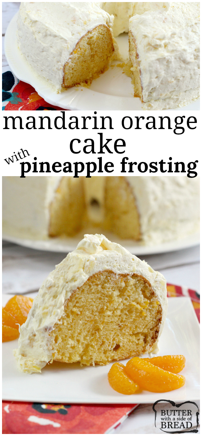 Cake With Mandarin Oranges And Cool Whip