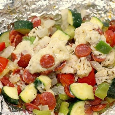 CHICKEN PIZZA FOIL PACKETS