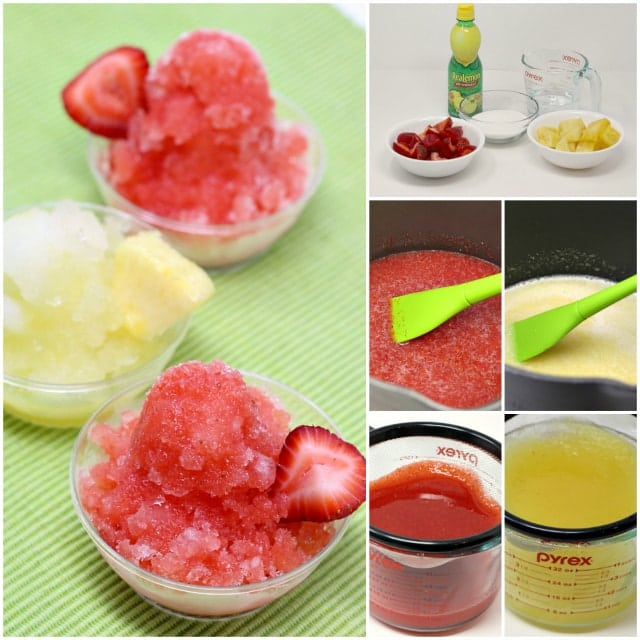 Homemade Fresh Fruit Shaved Ice is the perfect summer treat! Fresh fruit is so much healthier than those store-bought syrups and you can make any flavor!