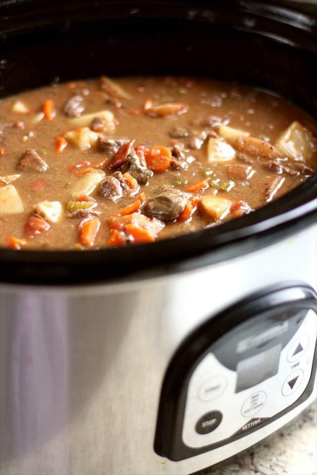 The Best Crock Pot Beef Stew Butter With A Side Of Bread