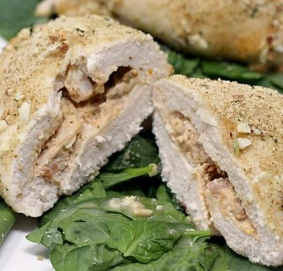 CREAMY TOMATO PESTO STUFFED CHICKEN