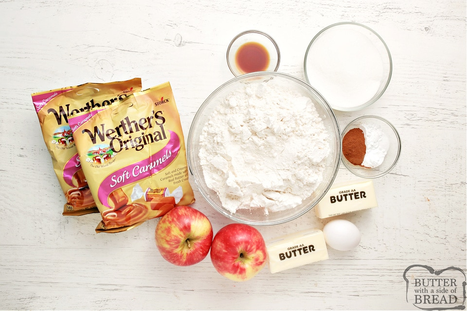 Ingredients in Caramel Apple Snickerdoodle cookies