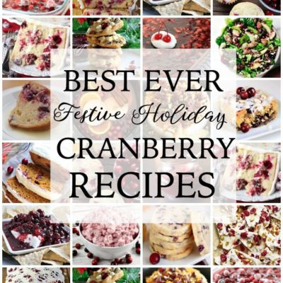 BEST EVER CRANBERRY RECIPES
