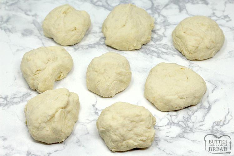 Homemade dough for making calzones