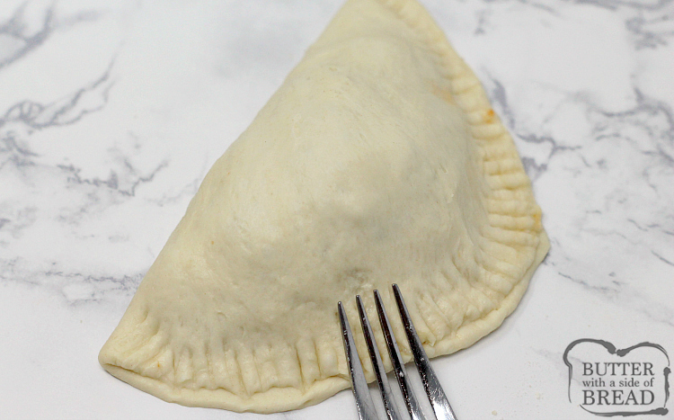 How to seal the edges of a homemade calzone