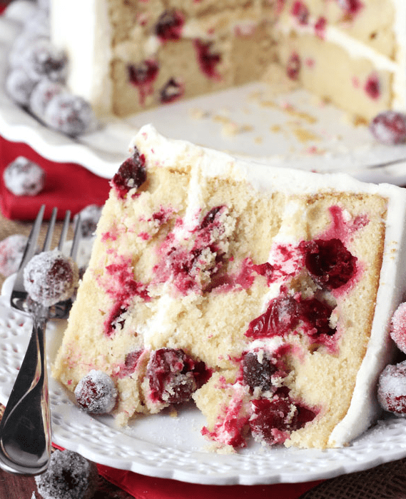 Best Ever Cranberry Cake