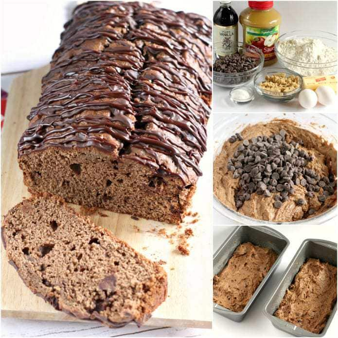 Triple Chocolate Quick Bread has melted chocolate and chocolate chips in the batter, plus a delicious chocolate drizzle on the top!