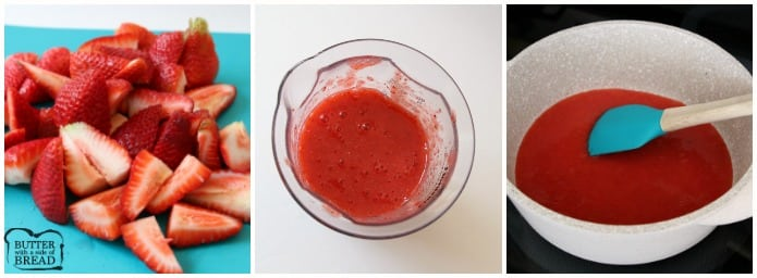 How to make Reduced Strawberry Puree for Frosted Strawberry Cookies