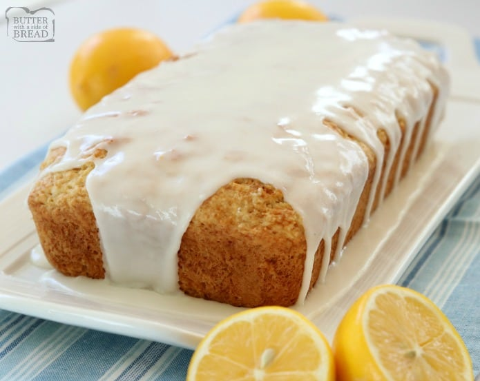Lemon Buttermilk Bread recipe made with simple ingredients and topped with a bright, fresh lemon glaze. Buttermilk adds a wonderful flavor and texture to this easy lemon bread recipe. Sweet quick bread for anyone who loves baking with lemon!