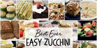 Easy Zucchini Recipes that everyone goes crazy over! Best Zucchini Bread, Zucchini Cookies, grilled zucchini and more. These are the best zucchini recipes for when your garden is overflowing!