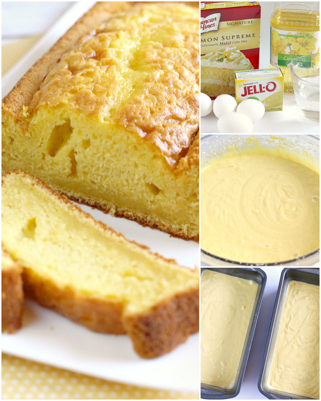 Step by step instructions on how to make Easy Lemon Bread with only 5 ingredients!
