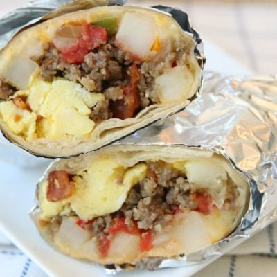 LOADED BREAKFAST BURRITO RECIPE