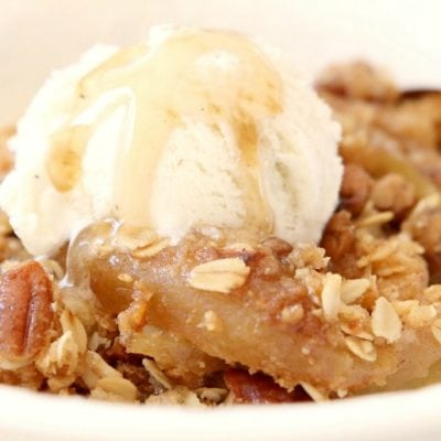 MAPLE PECAN APPLE CRISP