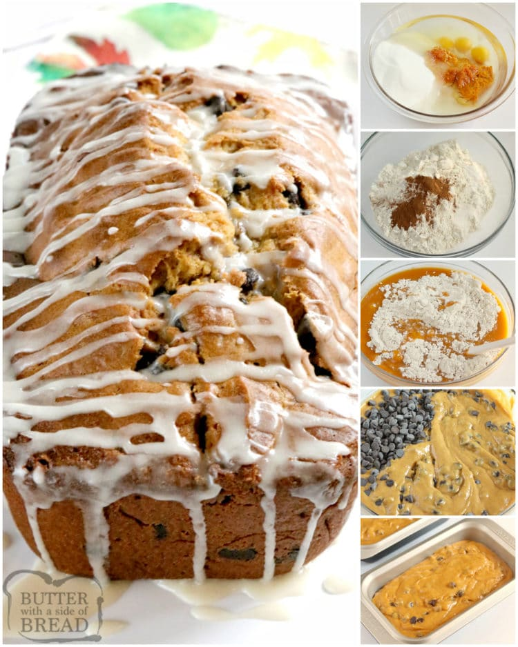 How to make pumpkin bread with chocolate chips
