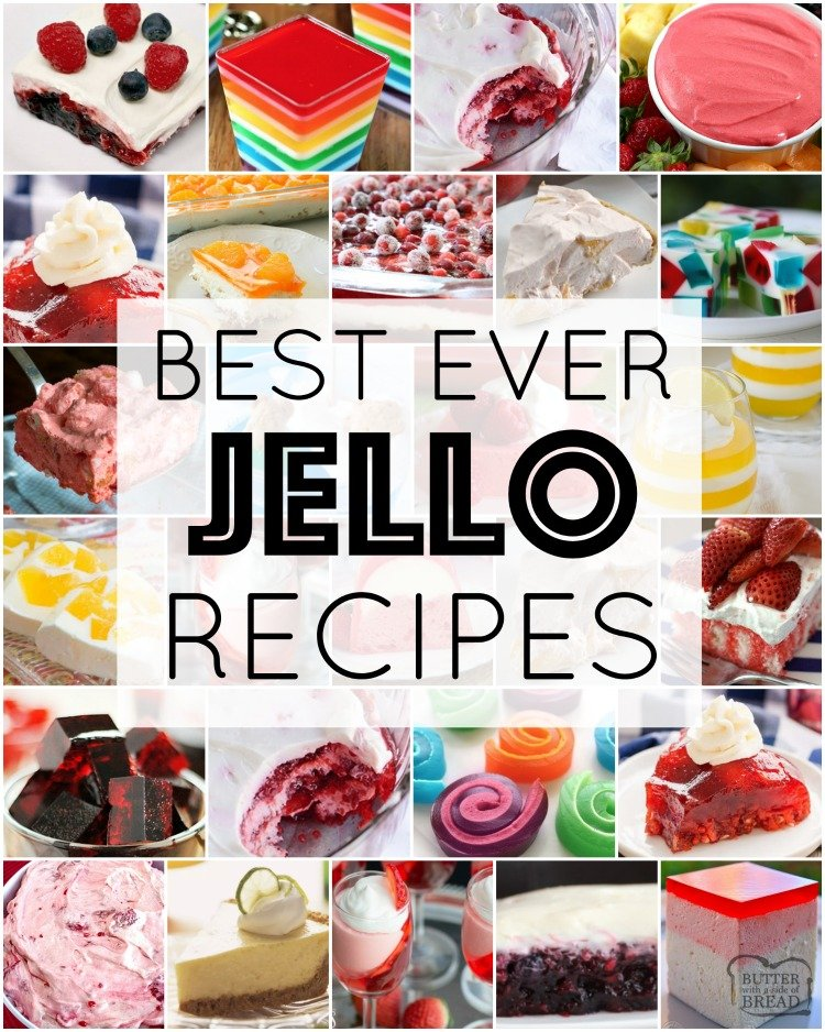 The best Jello recipes ever, all gathered in one place! Jello recipes for holidays, parties, dessert and more. We cover jello salad recipes, jello cakes and cookies and layered jello desserts. Fun, tasty & simple jello recipes for any occasion.
