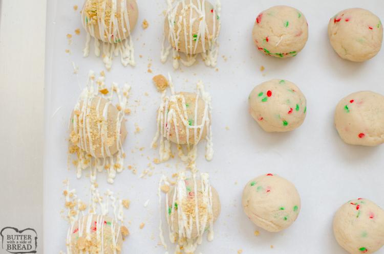 drizzle the cake balls