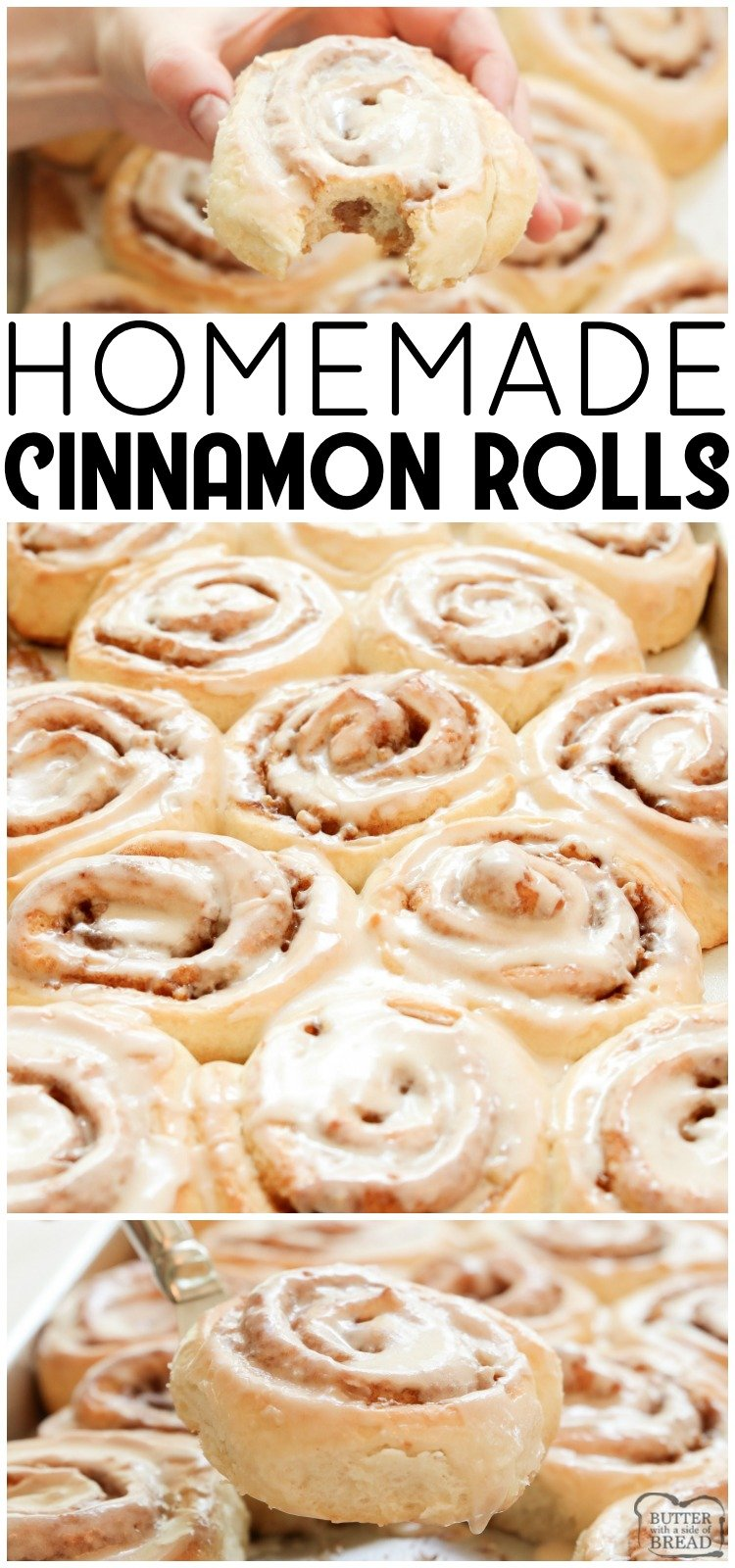 Cinnamon Rolls made from scratch that yield feather-light sweet rolls with pecans, cinnamon and a lovely vanilla glaze. Best cinnamon roll recipe ever!