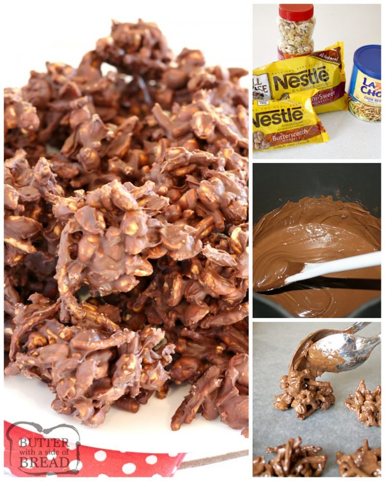 Step by step instructions on how to make chocolate peanut clusters