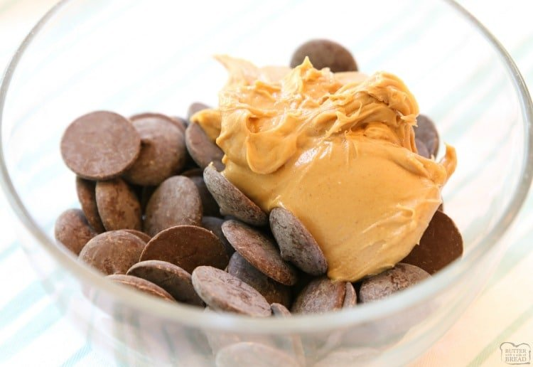 How to melt chocolate and peanut butter