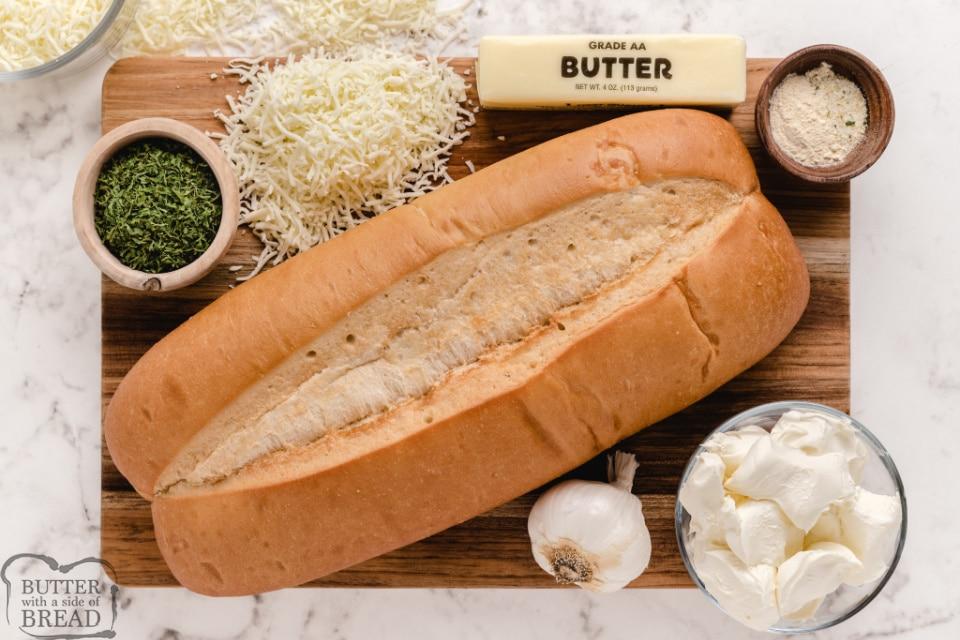 Igredients in Cheesy Garlic Bread