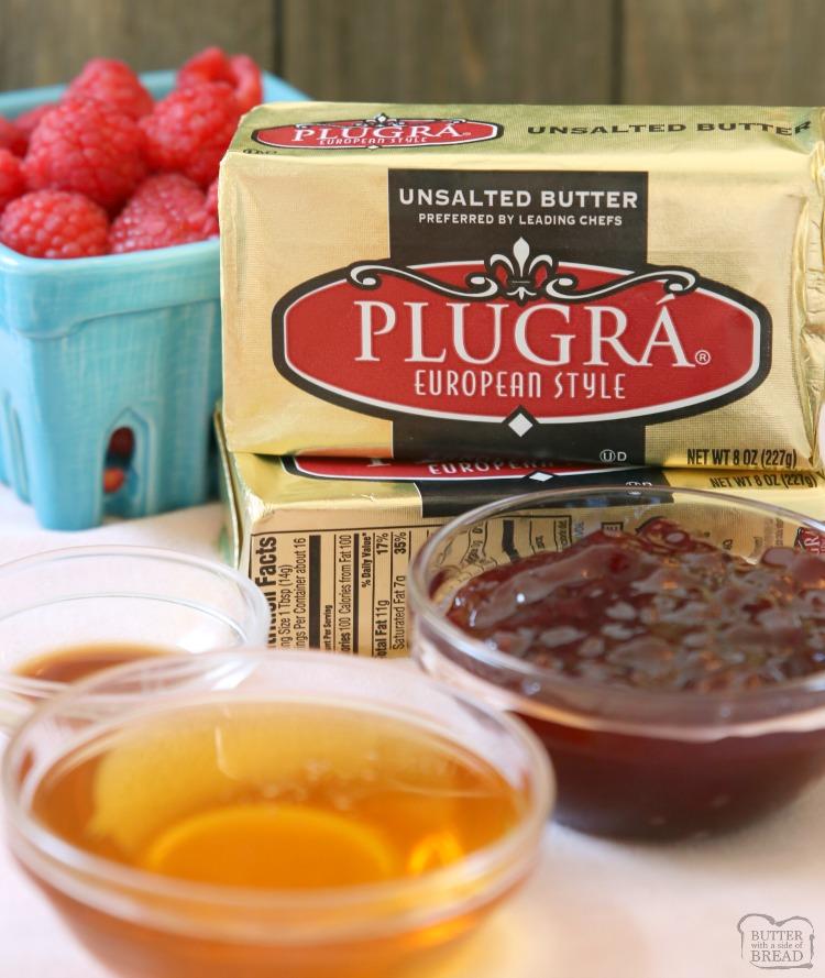 raspberry honey butter recipe ingredients