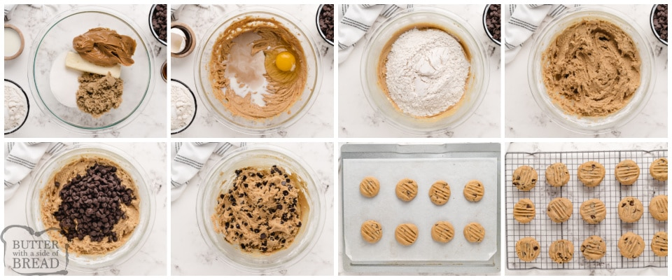 How to make peanut butter chocolate chip cookies