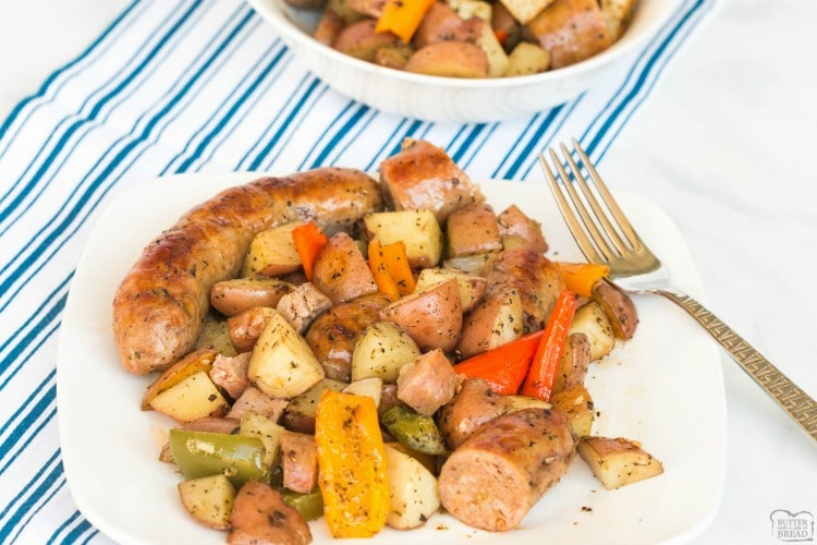sausage and peppers and potatoes