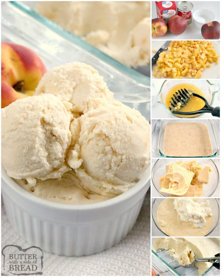How to make homemade peach ice cream