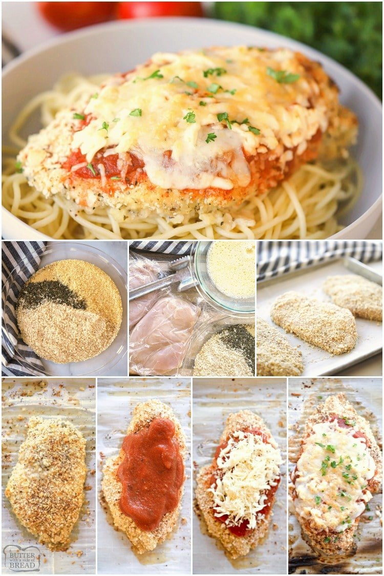 how to make baked parmesan chicken recipe