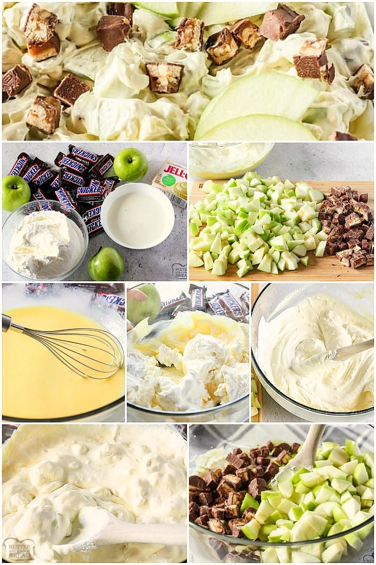 how to make snicker apple salad