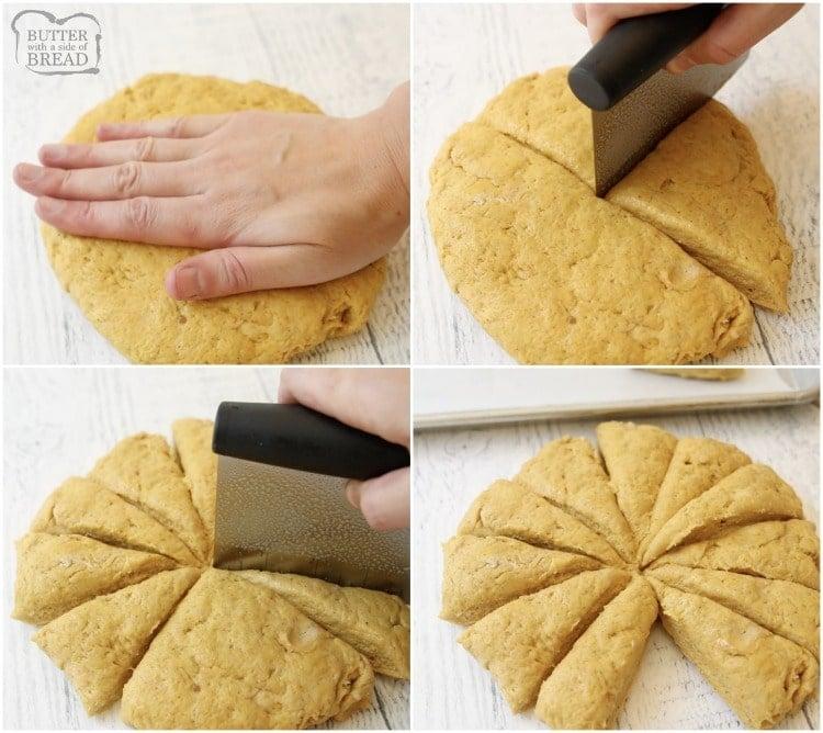 how to shape scones