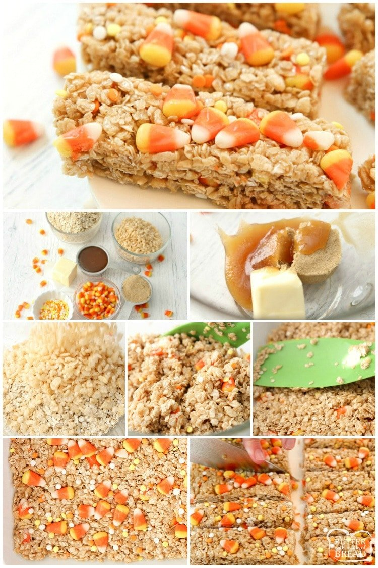 how to make homemade granola bars with candy corn