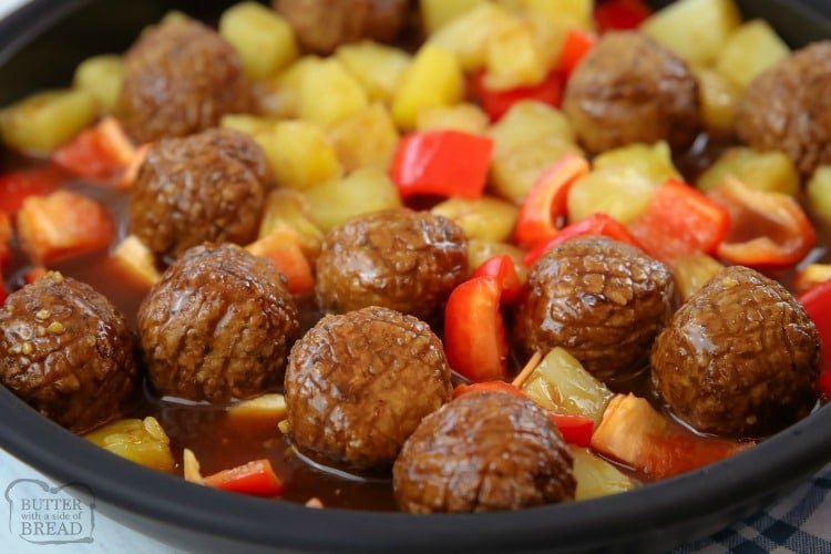 Teriyaki Meatballs recipe with pineapple that is easy to make and is so flavorful! Served as an easy dinner or appetizer, pineapple teriyaki meatballs are a crowd pleaser every time!