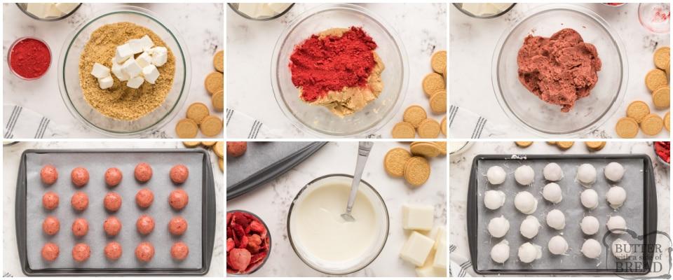How to make Strawberry Shortcake Oreo Balls