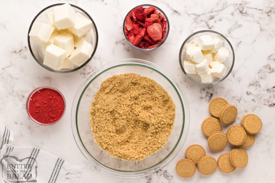 Ingredients in Strawberry Shortcake Oreo Balls