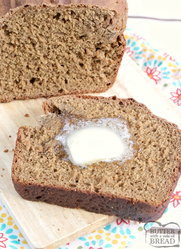No Yeast Wheat Bread Butter With A Side Of Bread