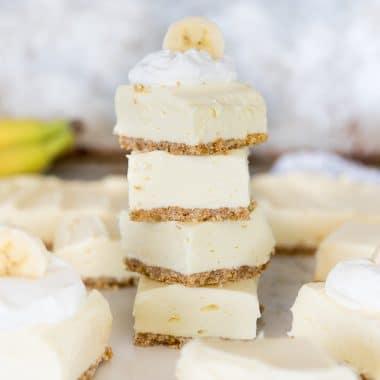 Banana Cream Cheesecake Bites