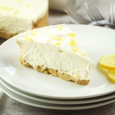 No Bake Lemon Cheesecake is a simple no bake dessert with only a few ingredients! Easy Lemon Cheesecake recipe with bright, fresh lemon flavor in a creamy no-bake cheesecake. Easy to make and really comes together quickly without even turning the oven on.