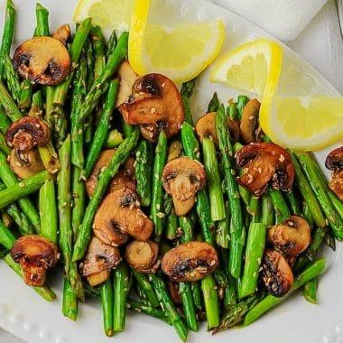Sesame Mushrooms & Asparagus recipe