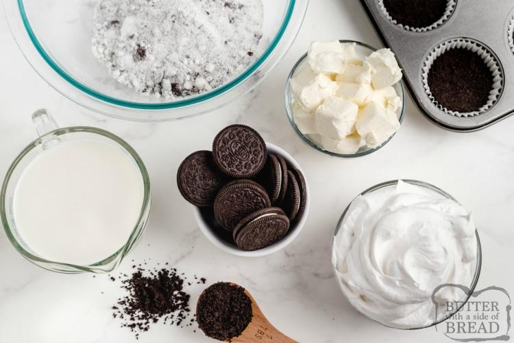 Ingredients in No Bake Oreo Cheesecake