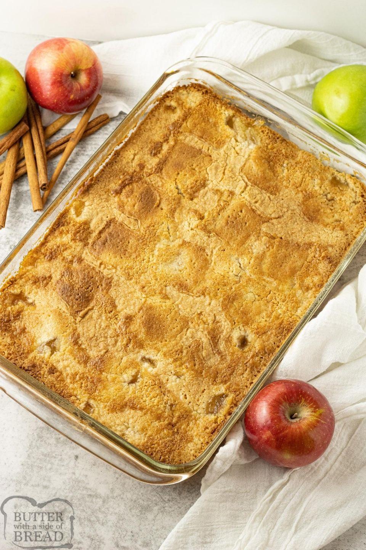 Apple Cinnamon Dump Cake