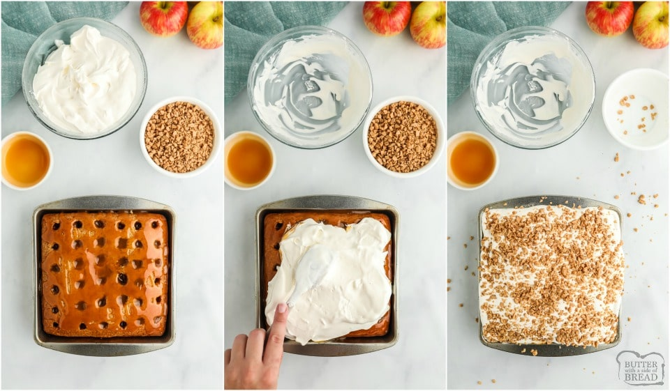 How to make Caramel Apple Poke Cake recipe