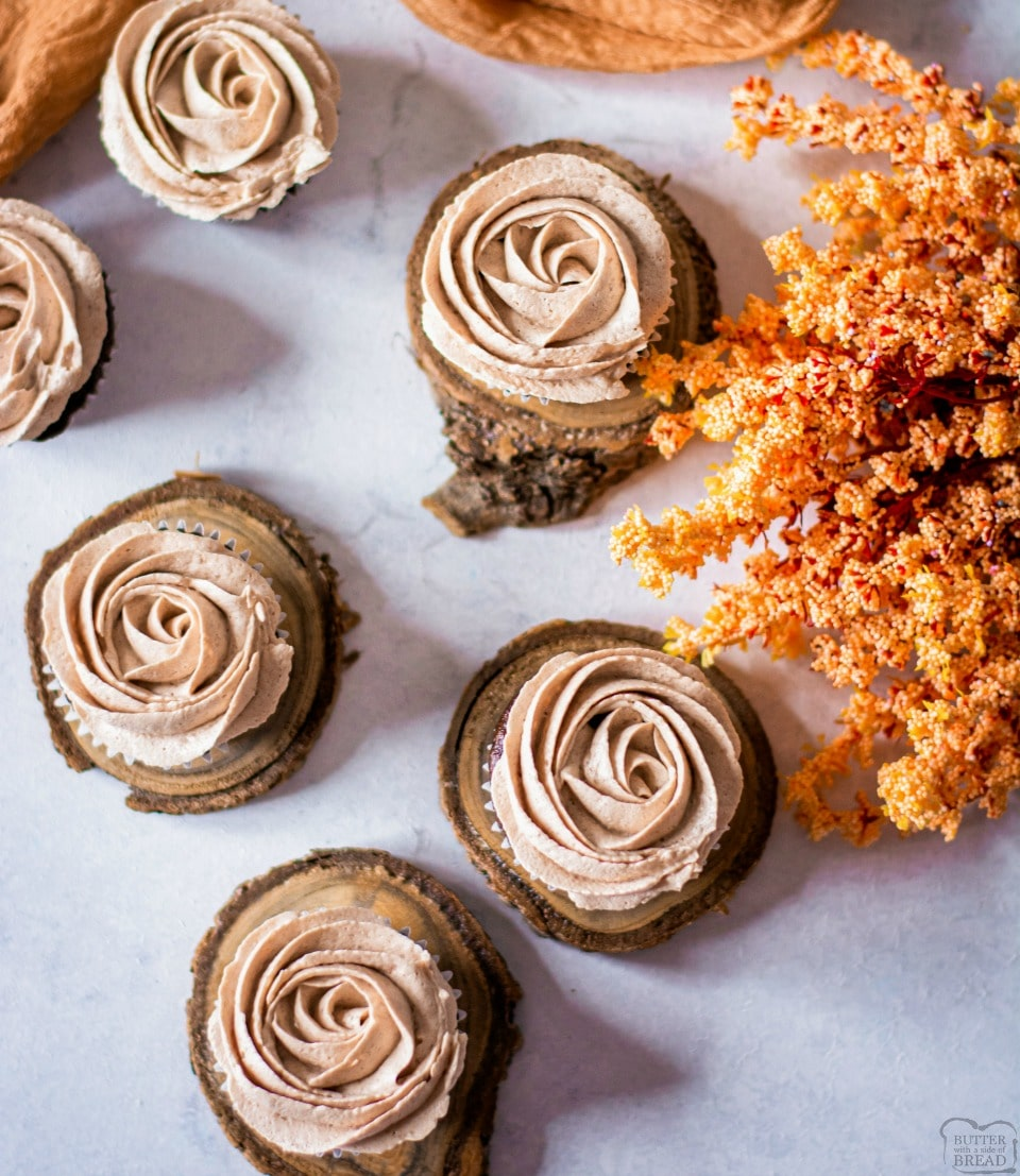 Hot chocolate cupcakes are soft chocolate cupcakes topped with hot chocolate buttercream for an indulgent & delicious chocolatey dessert.